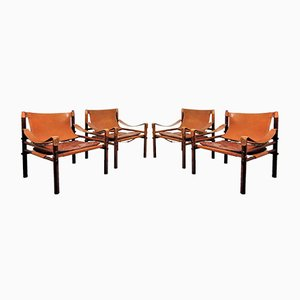 Sirocco Chairs by Arne Norell, 1960s, Set of 4