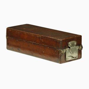 Caja vintage de cuero de Louis Vuitton
