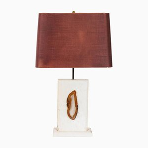Marble Table Lamp with Agate, 1970s