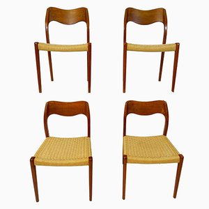 Scandinavian Dining Chairs by Niels O. Moller, 1960s, Set of 4