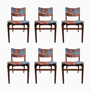Esszimmerstühle von Louis Van Teeffelen für WéBé, 1950er, 6er Set