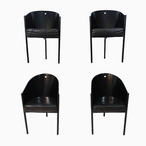 Chaises Costes Postmodernes par Philippe Starck pour Driade, 1980s, Set de 4