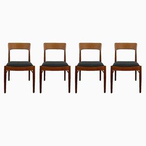 Dänische Esszimmerstühle aus Teak von K.S. Møbler, 1960er, 4er Set