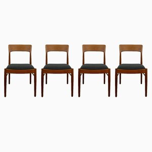 Danish Teak Dining Chairs from K.S. Møbler, 1960s, Set of 4