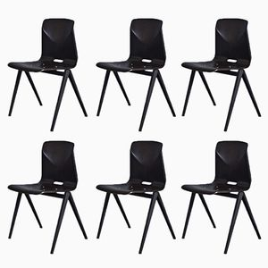 Vintage S22 Thur-Op-Seat Chairs from Galvanitas, Set of 6