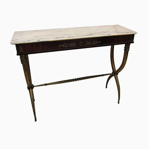 Italian Brass Console Table, 1950s