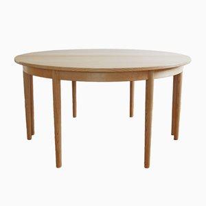 Tavolo rotondo di H.J. Wegner per PP Mobler, Danimarca, anni '70