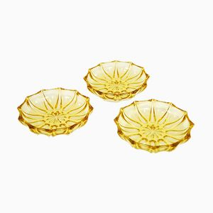 Art Deco Honey Plates by Stölzle Hermanova, 1930s, Set of 3