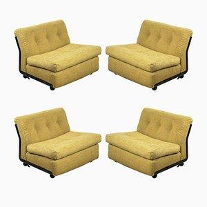 Amanta Chairs von Mario Bellini für B&B Italia, 1960er, 4er Set