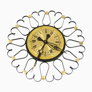 German Mechanical Wall Clock, 1970s