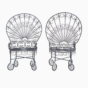 Peacock Stühle von John Salterini, 1930er, 2er Set