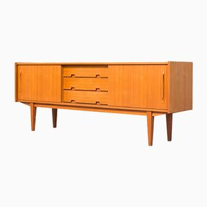 Vintage Teak & Walnut Sideboard with Sliding Doors