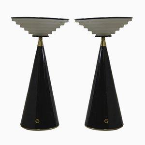 Ziggurat Tischlampen von Shigeaki Asahara für Stilnovo, 1980er, 2er Set