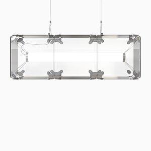 Hyperqube Hängelampe aus Glas mit 3 Modulen & verstellbaren LEDs von Felix Monza
