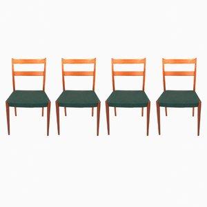 Schwedische Mid-Century Esszimmerstühle aus Teak, 4er Set