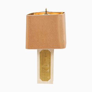Lampe de Bureau en Marbre par Georges Mathias, 1970s