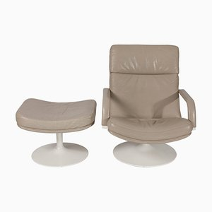 F156 Easy Chair with Ottoman by Geoffrey Harcourt for Artifort, 1960s