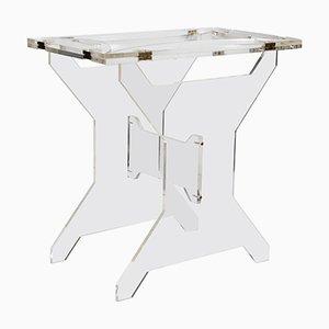 Tablett-Tisch aus Plexiglas, 1950er