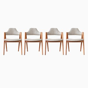 Mid-Century Dining Chairs by Kai Kristiansen for SVA Møbler, 1960s, Set of 4