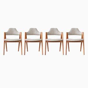 Mid-Century Esszimmerstühle von Kai Kristiansen für SVA Møbler, 1960er, 4er Set