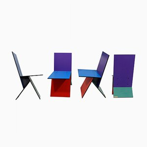 Vilbert Chairs By Verner Panton for Ikea, 1993, Set of 4