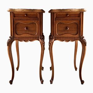 Tables de Chevet Antiques, France, Set de 2