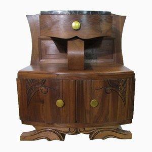 Nachttisch aus Nussholz, 1920er