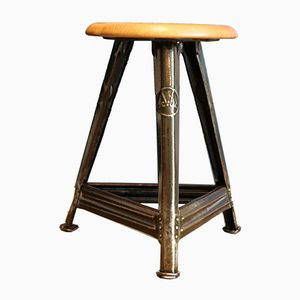 Vintage Bauhaus Stool by Robert Wagner for Rowac