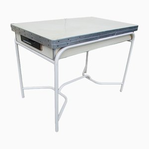 Mesa de cocina extensible de formica, años 50