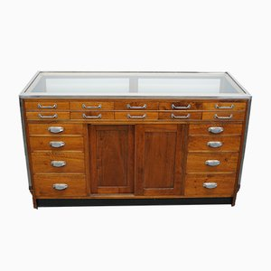 Glass and Mahogany Haberdashery Shop Counter, 1930s