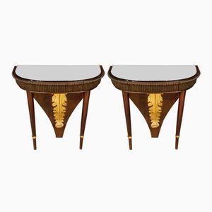 Tables de Chevet Laquées par Osvaldo Borsani, Italie, 1950s, Set de 2