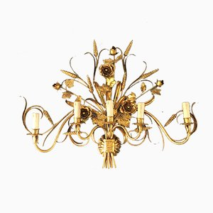 Large Italian Gilt Sconce by S. Salvadori, 1950s