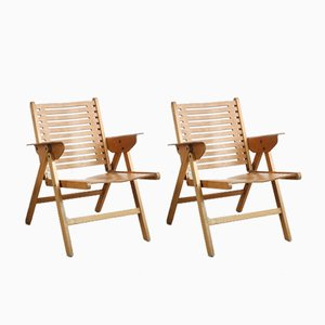 Rex Lounge Chairs by Niko Kralj, 1960s, Set of 2