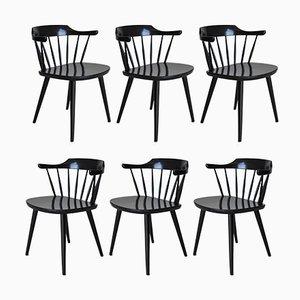 FH01 Esszimmerstühle von Yngve Ekström für Pastoe, 1950er, 6er Set