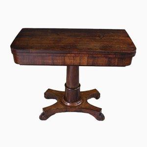 Mesa de juegos William IV antigua de palisandro