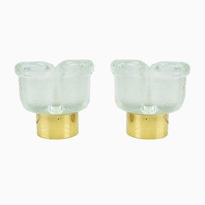 Lampade da tavolo in vetro di Peil & Putzler, anni '60, set di 2