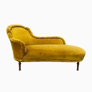 Chaise longue francesa antigua dorada