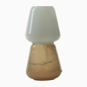 Duo Table Lamp in Mocha, Moire Collection, Hand-Blown Glass by Atelier George