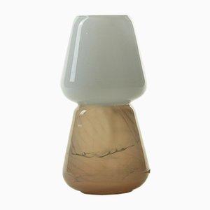 Duo Tischlampe in Mokka aus mundgeblasenem Glas, Moire Collection von Atelier George