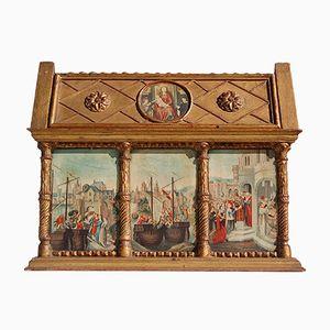 Replica in miniatura di un santuario neogotico, anni '60