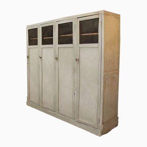 Vintage Wooden Factory Unit with Shelves