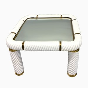 Ceramic and Brass Coffee Table by Tommaso Barbi, 1977