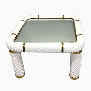 Table Basse en Céramique & Laiton par Tommaso Barbi, 1977
