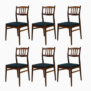Walnut Dining Chairs by Bendt Winge for Gustav Bahus, 1950s, Set of 6