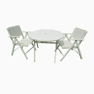 Folding Garden Table & Chairs from Gleyzes, 1950s