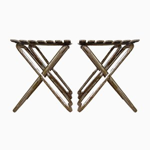 Mid-Century Army Folding Stools, 1960s, Set of 4