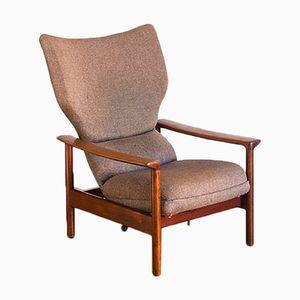Poltrona reclinabile vintage con schienale alto