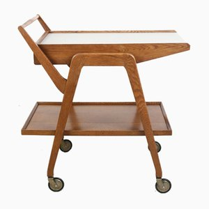 Mid-Century English Wooden Trolley