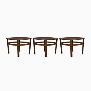 Mid-Century Bentwood Tables from Nathan, 1970s, Set of 3