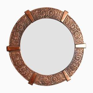 Handmade Brass Mirror, 1960s